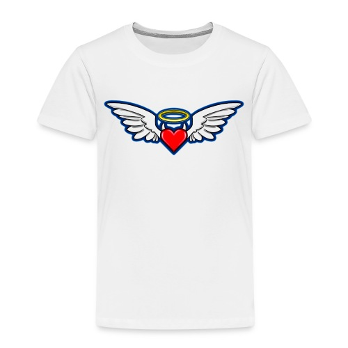 I Aime LOKY D.bleu recto verso près du corps - T-shirt Premium Enfant