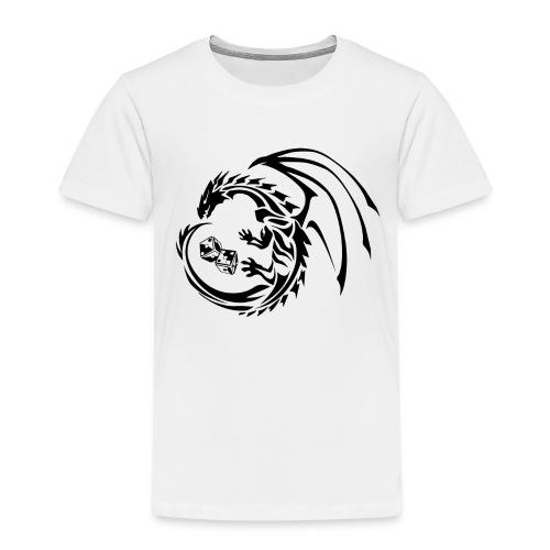 HytteCon black png - Premium T-skjorte for barn