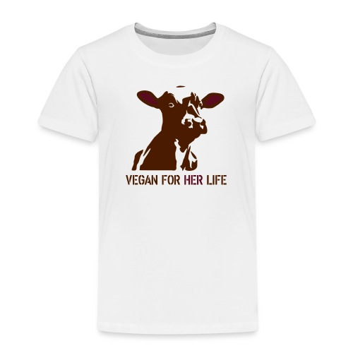 vegan for her life - Kinder Premium T-Shirt