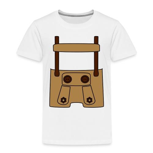 Meine erste Lederhose (vorne) - Kinder Premium T-Shirt