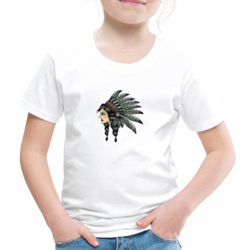 Native Indian Girl - Kids' Premium T-Shirt