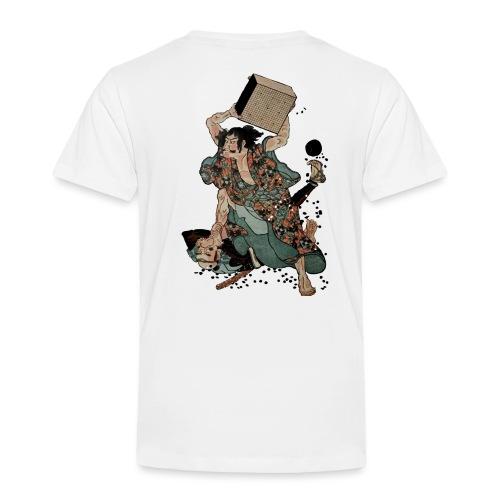 Sato Tadanobu with a goban - Kinderen Premium T-shirt