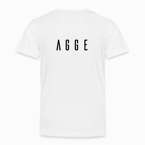 Agge - Svart logga   Bak - Premium-T-shirt barn