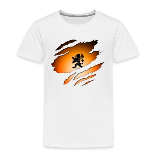 Dutch Inside: Leeuw - Kinderen Premium T-shirt