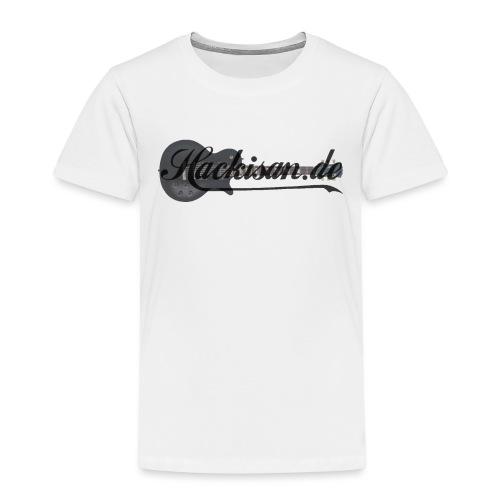 Tasse - schwarz - Hackisan-Logo vorne u. hinten - Kinder Premium T-Shirt