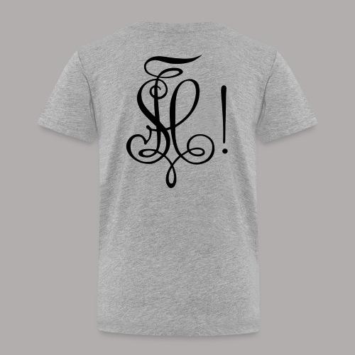 Zirkel, schwarz (hinten) - Kinder Premium T-Shirt