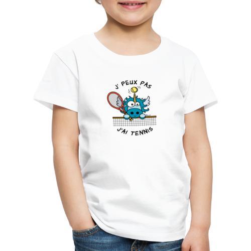 Licorne Bleu, Balle Raquette Tennis - T-shirt Premium Enfant