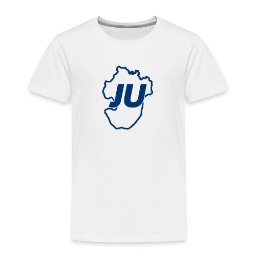 JU Umriss blau - Kinder Premium T-Shirt