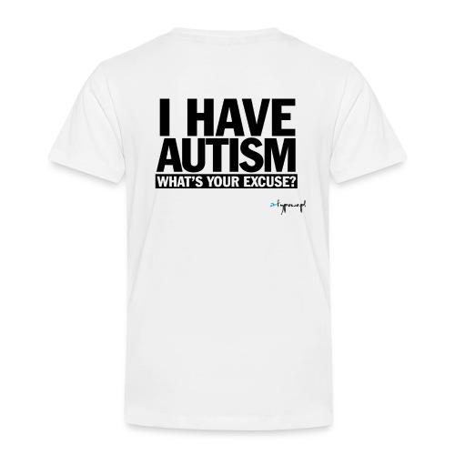 I have autism... (black) - Koszulka dziecięca Premium