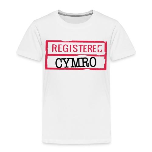 REGISTERED CYMRO - Kids' Premium T-Shirt