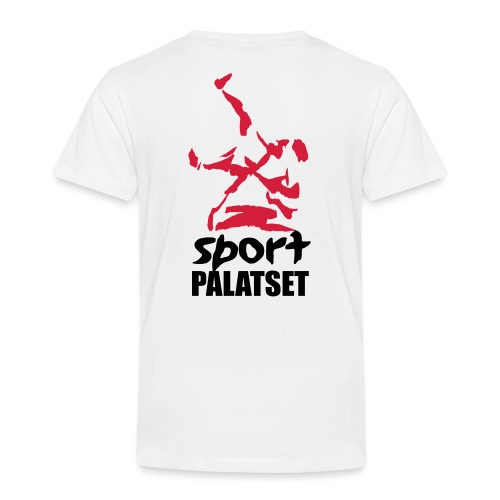 Motiv med svart och röd logga - Premium-T-shirt barn