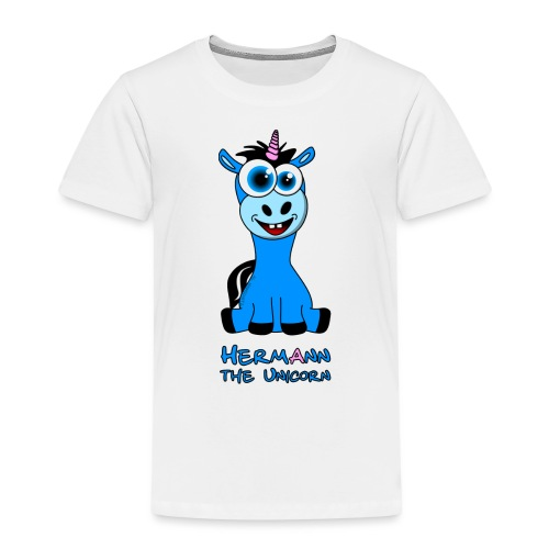 Hermann the Unicorn front - Kinder Premium T-Shirt