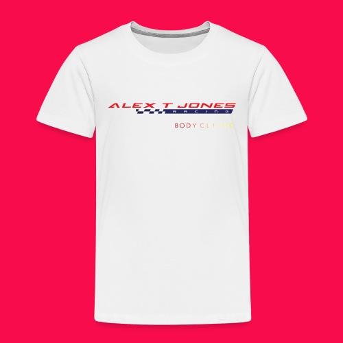alex t jones racing logo CLEAR BKGD copy png - Kids' Premium T-Shirt
