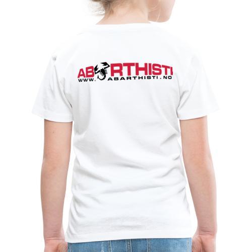 abarthlogored - Premium T-skjorte for barn
