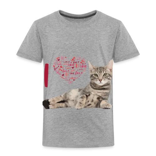 I LOVE CATS - Camiseta premium niño