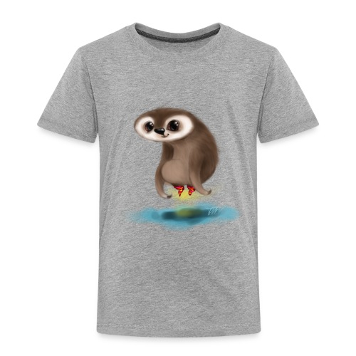 Faultierchen mit fliegenden Socken - Kinder Premium T-Shirt