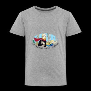 Fatherhood Badly Doodled - Kids' Premium T-Shirt