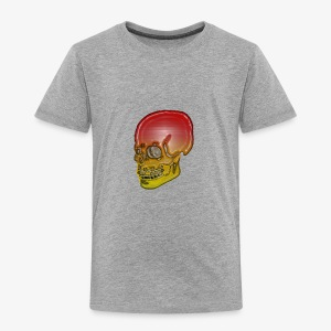 Silver red and yellow skull - Kids' Premium T-Shirt