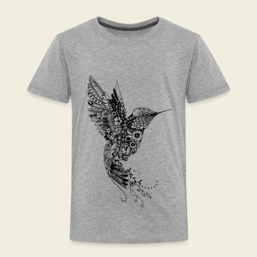 Großer Design-Kolibri - Kinder Premium T-Shirt