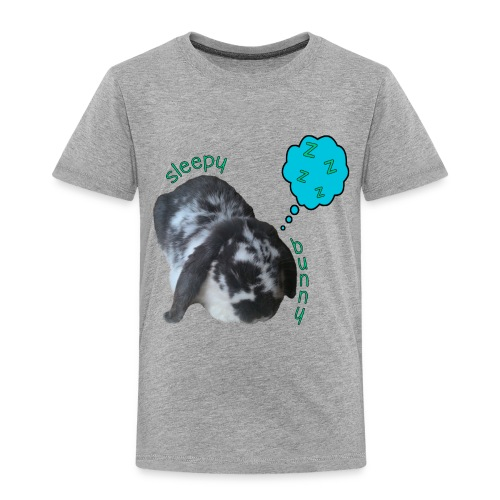 sleepy bunny 8 png - Kids' Premium T-Shirt