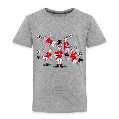 Cartoon Football Player - Kids' Premium T-Shirt