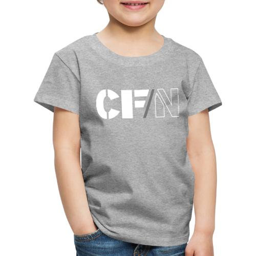 CFN White Grey - Premium-T-shirt barn