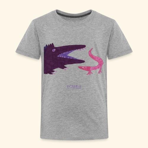 Purple crocodile and pink lizard - Maglietta Premium per bambini