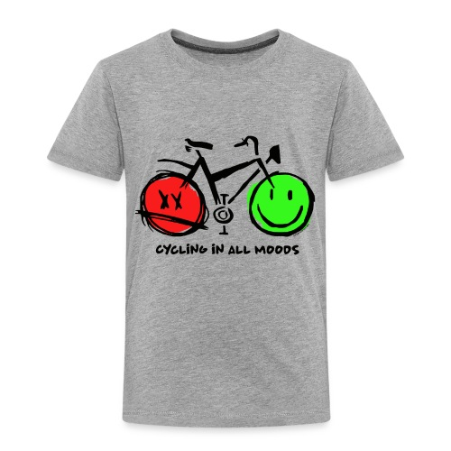 Cycling in all Moods - Trippers Textiles and Gifts - Lasten premium t-paita