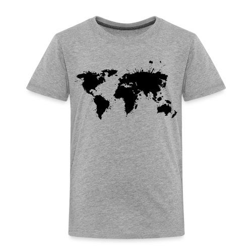 Weltkarte Splash - Kinder Premium T-Shirt