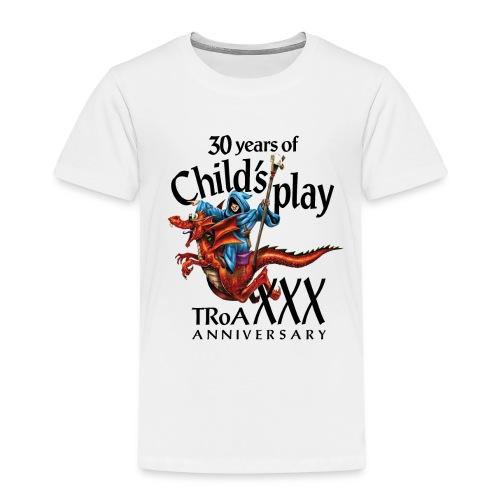TRoA 30 år - Sort skrift - Børne premium T-shirt