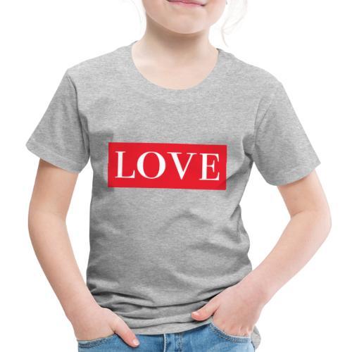 Red LOVE - Kids' Premium T-Shirt