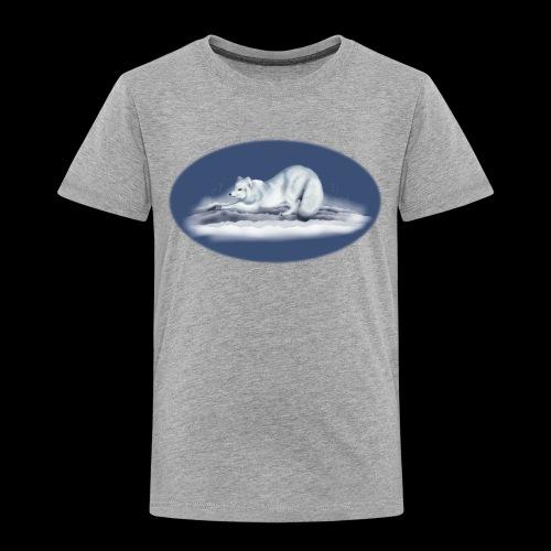 Arctic Fox on snow - Kids' Premium T-Shirt