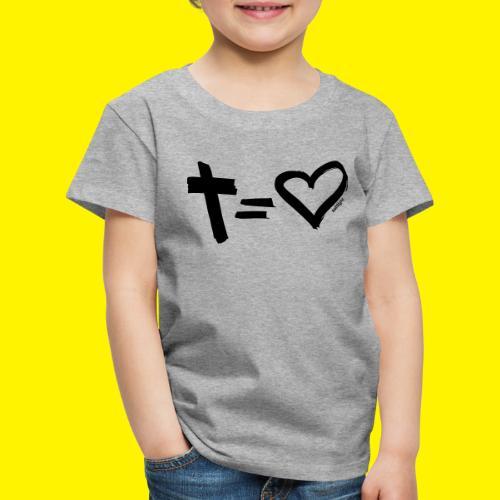 Cross = Heart BLACK - Kids' Premium T-Shirt