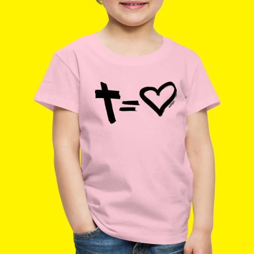 Cross = Heart BLACK - Kids' Premium T-Shirt