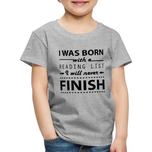 0191 Leseliste | Buch | Buchliebhaber | Bücher - Kids' Premium T-Shirt