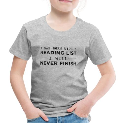 0193 Stapel ungelesener Bücher | Lesen | Leser - Kids' Premium T-Shirt