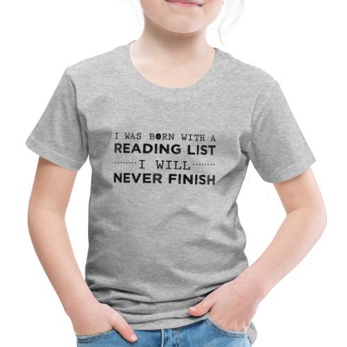 0193 Stapel ungelesener Bücher   Lesen   Leser - Kids' Premium T-Shirt