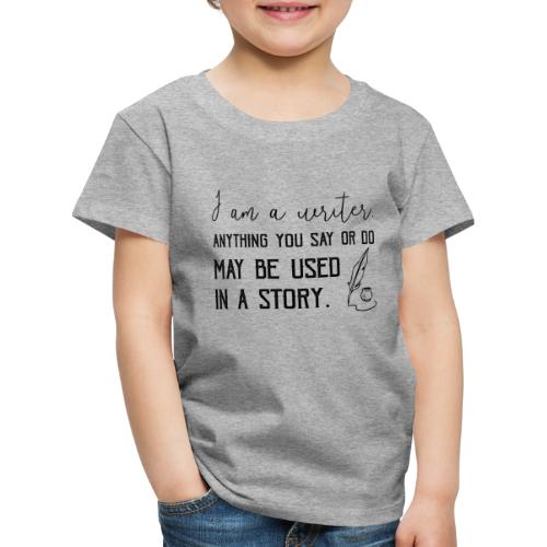 0266 writer | Author | Book | history - Kids' Premium T-Shirt