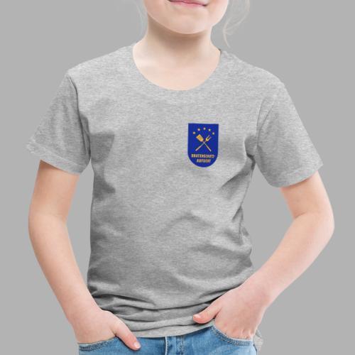 EU Bratenschutz-Aufsicht Dienstabzeichen blau - Kinder Premium T-Shirt