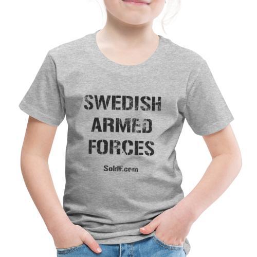 Swedish Armed Forces + SWE FLAG - Premium-T-shirt barn