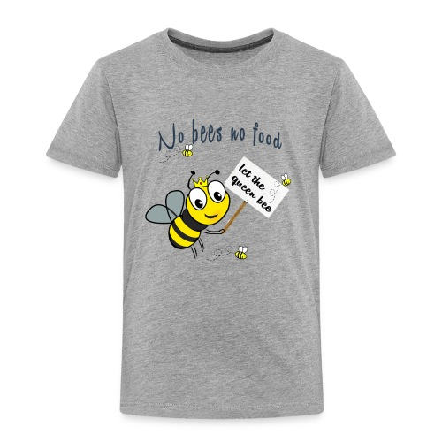 Save the bees with this cute design! Red de bij - Kinderen Premium T-shirt