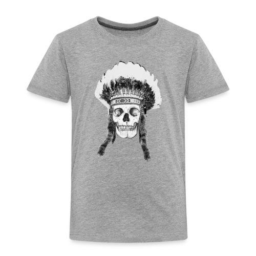 skull indian headdress - Kinderen Premium T-shirt