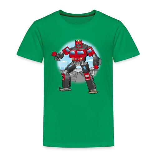 Lokomotiv transformer - Børne premium T-shirt