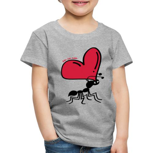 Ant Carrying the Love's Heart - Kids' Premium T-Shirt