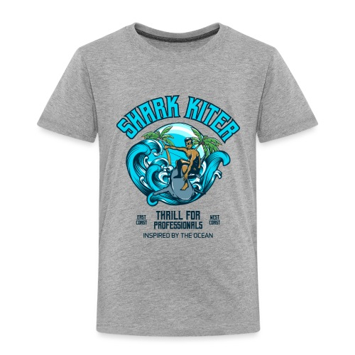 Shark Kitesurfer for professionals - Kinder Premium T-Shirt