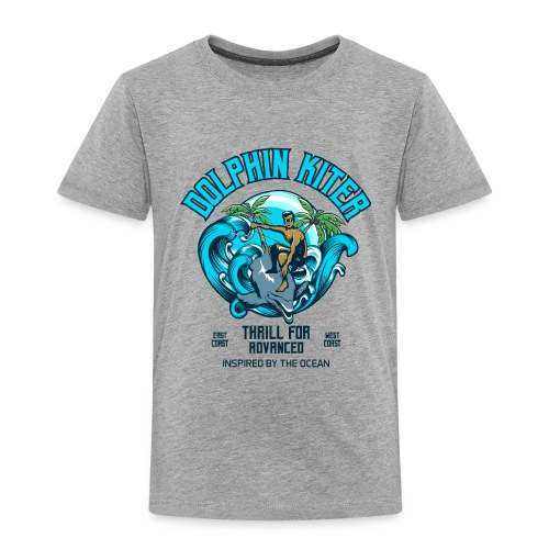 Dolphin Kitesurfer for advanced - Kinder Premium T-Shirt