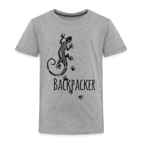 Backpacker - Running Ethno Gecko 1 - Kinder Premium T-Shirt