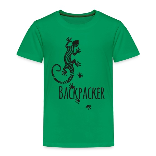 Backpacker - Running Ethno Gecko 1 - Kinder Premium T-Shirt
