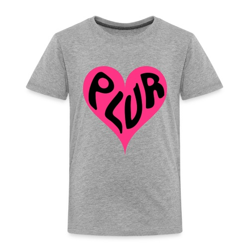 PLUR - Peace Love Unity and Respect love heart - Kids' Premium T-Shirt