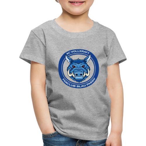 Blau Passiv Fanclub Logo - Kinder Premium T-Shirt